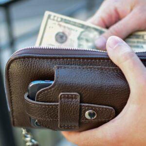 Кожаный коричневый мужской портмоне клатч BRL-32934 228859