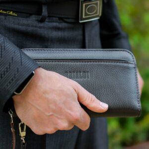 Деловой коричневый мужской портмоне клатч BRL-28618 228650