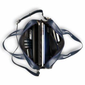Удобная синяя женская сумка портфель BRL-15164