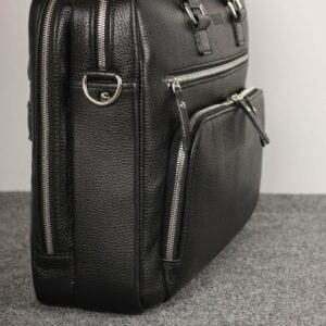 Кожаный черный мужской портфель деловой BRL-44548 227275