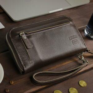Кожаный коричневый мужской портмоне клатч BRL-32934 228855