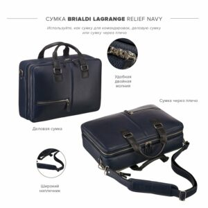 Неповторимая синяя дорожная сумка портфель BRL-23118 228396