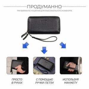 Модный черный мужской портмоне клатч BRL-43903 229089