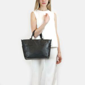 Стильная черная женская сумка через плечо BRL-47281 229782