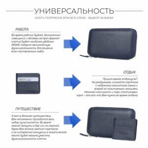 Уникальный синий мужской портмоне клатч BRL-23098 228328