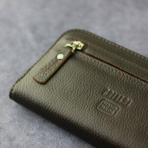 Деловой коричневый мужской портмоне клатч BRL-28618 228656