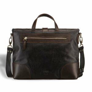 Вместительная черная мужская сумка трансформер через плечо BRL-3516 227662