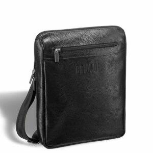 Солидная черная мужская сумка через плечо BRL-12058