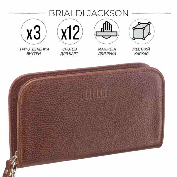 Стильный темно-оранжевый мужской портмоне клатч BRL-26740