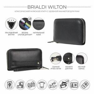 Стильный черный мужской портмоне клатч BRL-43905 229123