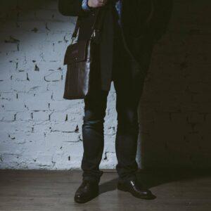 Уникальная коричневая мужская сумка мессенджер BRL-132 227387