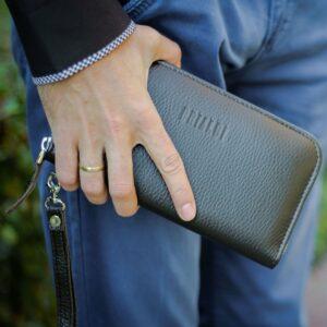 Солидный коричневый мужской портмоне клатч BRL-19842 228157