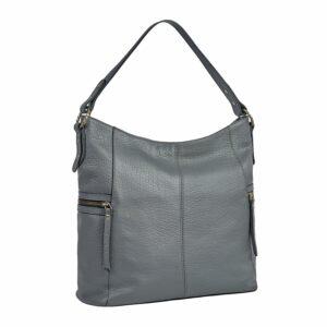 Функциональная серая женская сумка через плечо BRL-47452