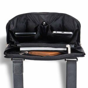 Солидная черная мужская сумка через плечо BRL-12058 227862