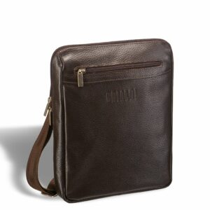 Вместительная коричневая мужская сумка через плечо BRL-12057