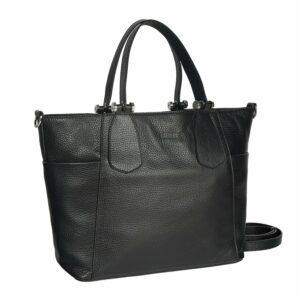 Стильная черная женская сумка через плечо BRL-47281