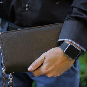 Удобный коричневый мужской портмоне клатч BRL-23059 228255