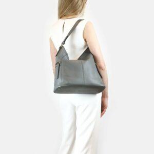 Функциональная серая женская сумка через плечо BRL-47452 229820