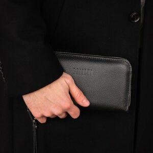 Стильный черный мужской портмоне клатч BRL-43905 229121