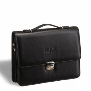 Уникальный черный мужской портфель саквояж BRL-9525