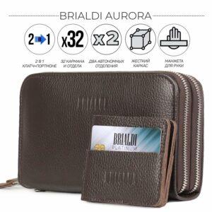 Неповторимый коричневый мужской портмоне клатч BRL-44371