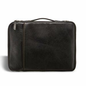 Кожаная черная мужская сумка мессенджер BRL-1022 229373