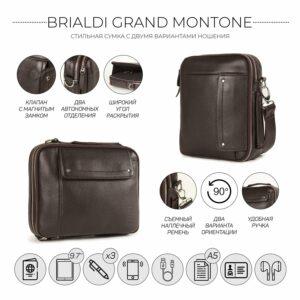 Кожаная коричневая мужская сумка через плечо BRL-19878 228224