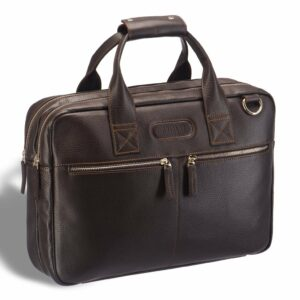 Кожаный коричневый мужской кейс для командировок BRL-12973