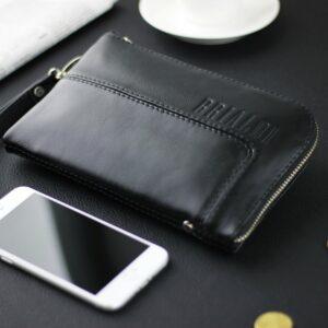Кожаный черный мужской портмоне клатч BRL-1516 227571