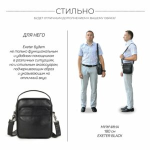 Деловая черная мужская сумка через плечо BRL-34399 229949
