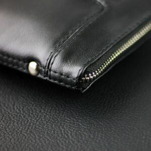 Кожаный черный мужской портмоне клатч BRL-1516 227579