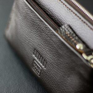 Кожаный коричневый мужской портмоне клатч BRL-28614 228618