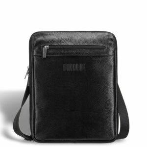 Солидная черная мужская сумка через плечо BRL-12058 227856
