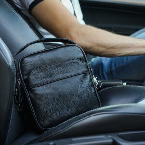 Деловая черная мужская сумка через плечо BRL-34399 229936