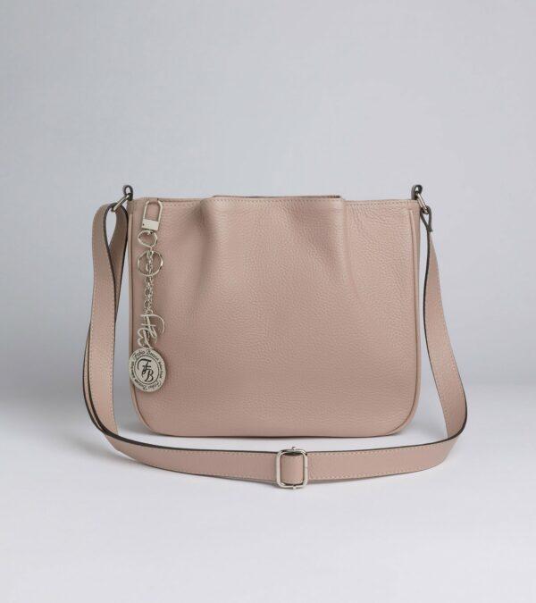Удобная бежевая женская сумка FBR-2879
