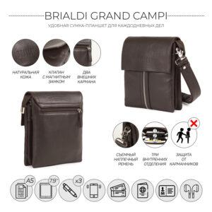 Неповторимая коричневая мужская сумка BRL-19864 234501