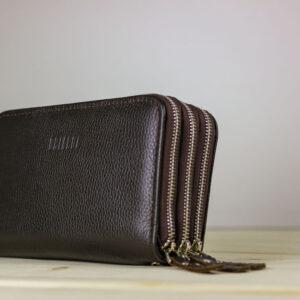 Удобная коричневая мужская барсетка BRL-23059 234647