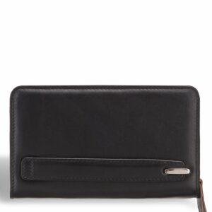 Стильный черный мужской кожаный кошелек BRL-7600 233792