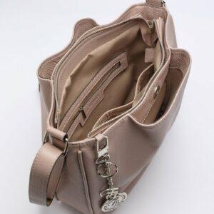 Удобная бежевая женская сумка FBR-2879 236111