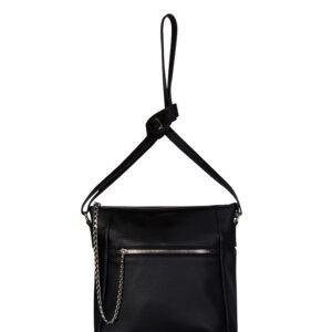 Удобная черная женская сумка через плечо FBR-1096