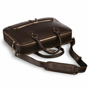 Функциональный коричневый мужской портфель рюкзак BRL-23167 235109