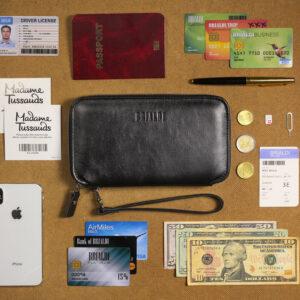 Неповторимая черная мужская сумка для мобильного телефона BRL-23091 234879