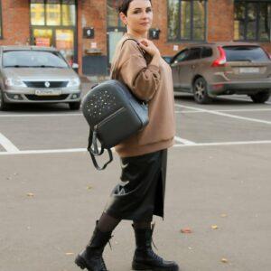 Модный серый женский рюкзак FBR-1171 233131