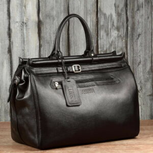 Кожаная черная мужская сумка BRL-149 233329
