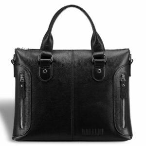 Кожаная черная мужская сумка BRL-17805 234370