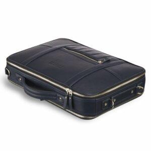 Функциональная синяя мужская сумка для документов BRL-23146 235028