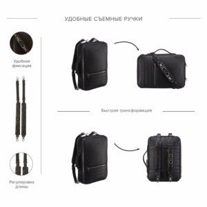 Удобная черная дорожная сумка портфель BRL-23144 234987