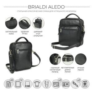 Уникальная черная мужская сумка для документов BRL-12934 234059