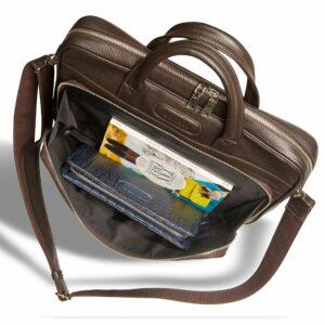 Уникальная коричневая мужская классическая сумка BRL-12052 233969