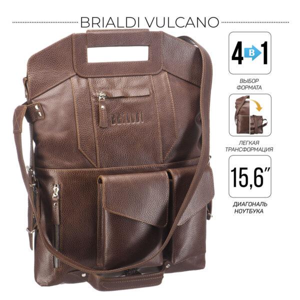 Вместительная темно-оранжевая мужская сумка BRL-28435